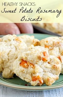 Healthy Snacks: Sweet Potato Rosemary Biscuits