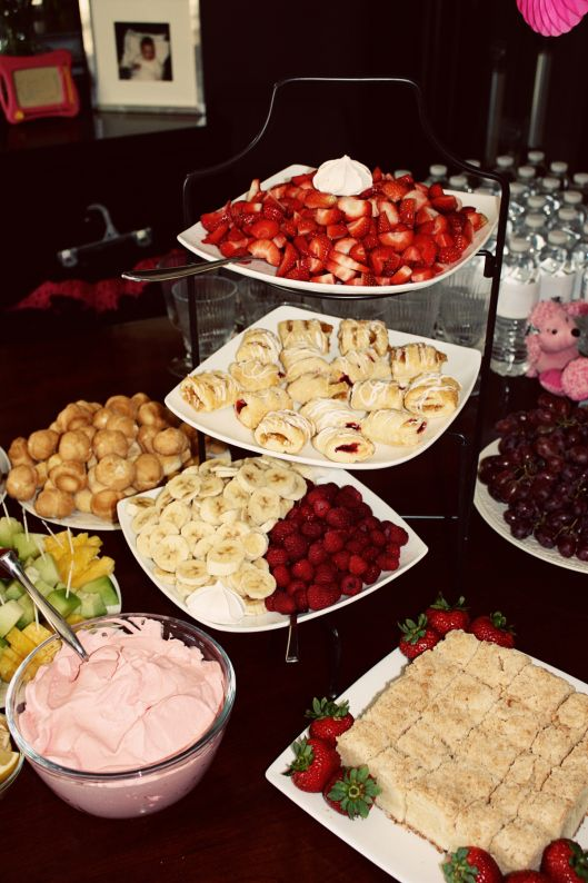 liisa 39 s girlie baby shower brunch sweet treats pinterest