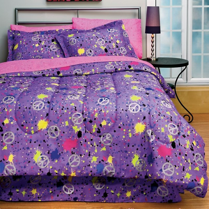 Peace Purple Bed in a Bag The Girls Room Pinterest