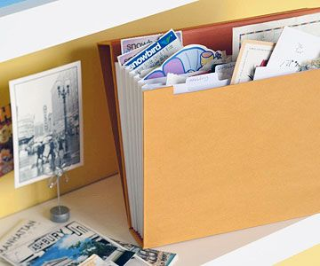 Stash the Goods - keep scrapping souveniers together until you have time to create the page
