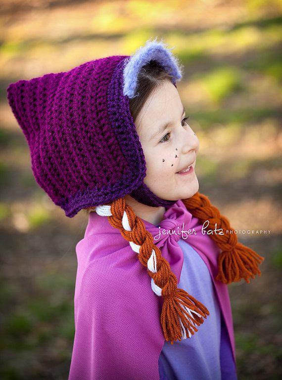Crochet Pattern Anna Hat : Disney Frozen Anna Hat