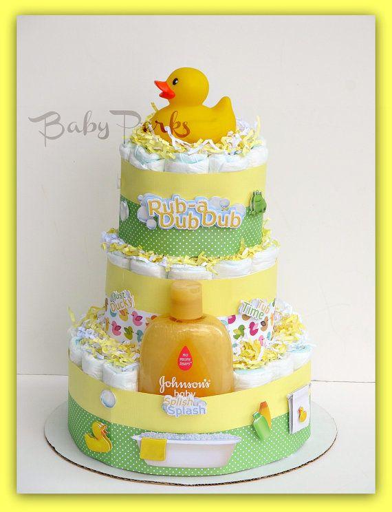 Diaper Duck Baby Shower Cakes |  Duck Diaper Cake,Baby  | Showe…