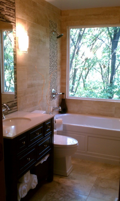 Small 5x8 bath looks bigger for the home pinterest for Small bathroom 5x8