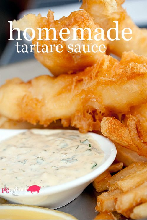 Fish n chips with homemade tartare sauce | Sauces, jams, jellies, but ...
