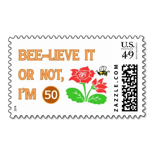 Cute 50th Birthday Gift Idea Postage Stamp