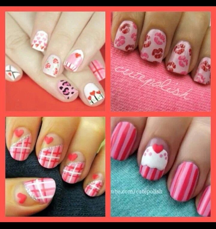 valentine's day nail stickers