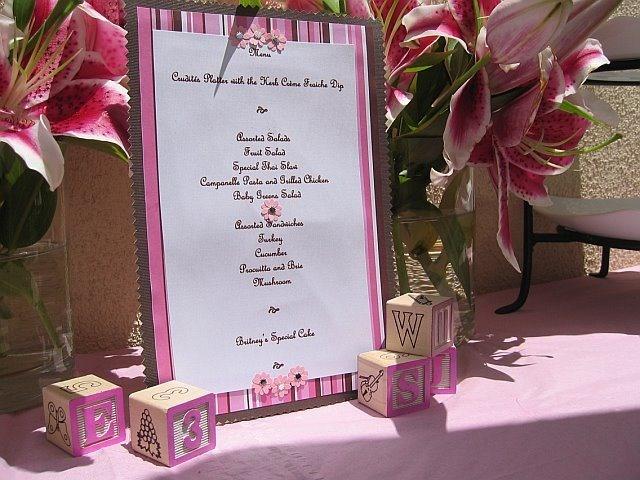 baby shower menu baby shower ideas pinterest
