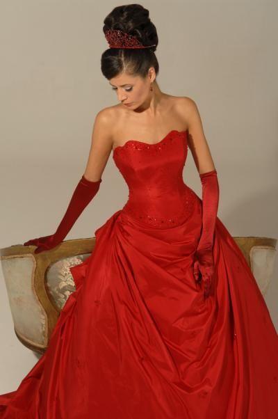 Red wedding dress dream : Red wedding dress by hollywood dreams happy endings