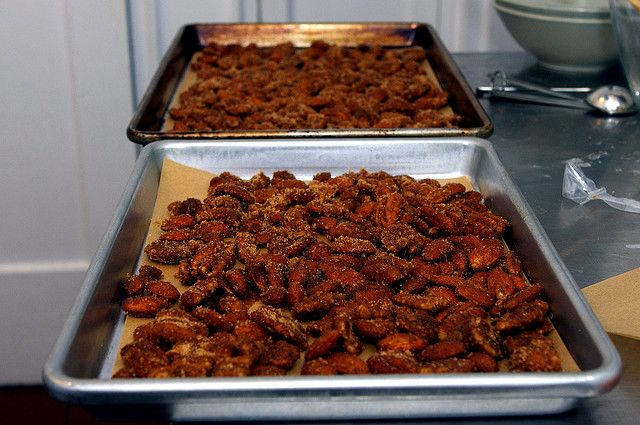 Sugar-and-Spice Candied Nuts with egg whites