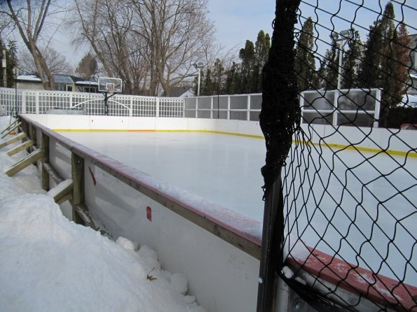 Backyard Ice Rink Lights : Backyard ice rink  Our backyard rink projects  Pinterest