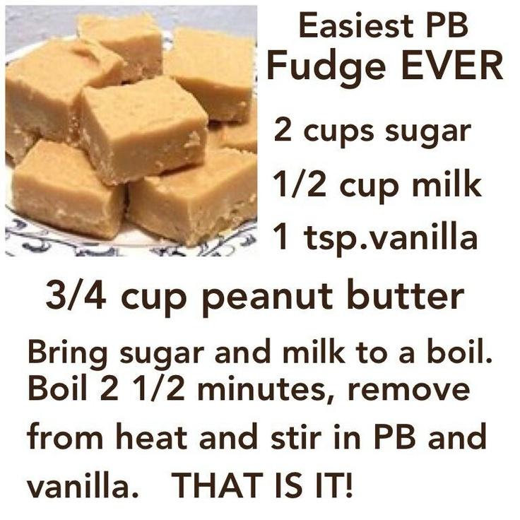 Quick peanut butter fudge ( It was really easy and quick) of course ...
