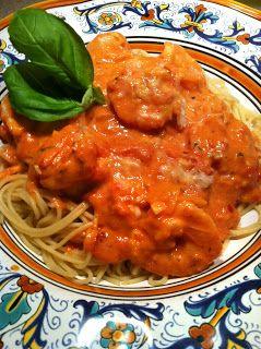 ... Kitchen: Shrimp and Tomato Cream Sauce over Angel Hair Pasta