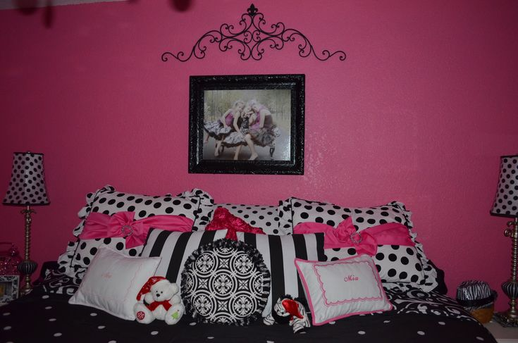 girls bedroom ideas hot pink and black girls room black
