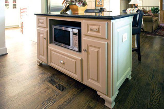 island with microwave kitchen ideas pinterest