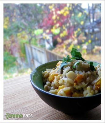 Risotto with Roasted Butternut Squash, Pancetta and Mushrooms ...
