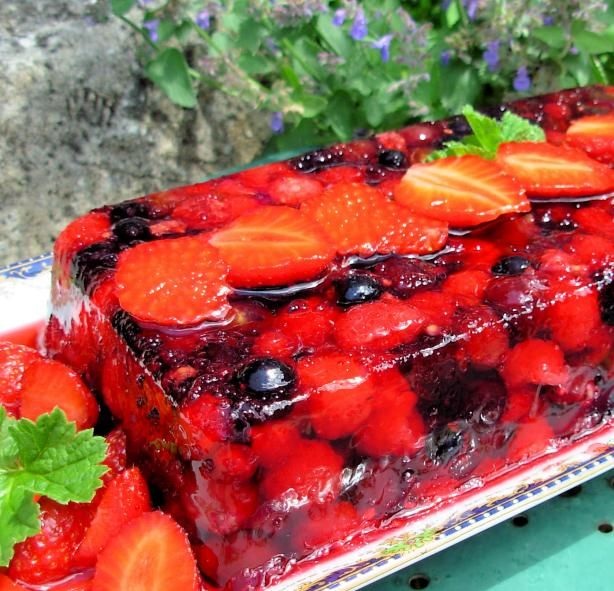 Summer Fruits Terrine or Bodacious Berries in Wine Jelly | Recipe