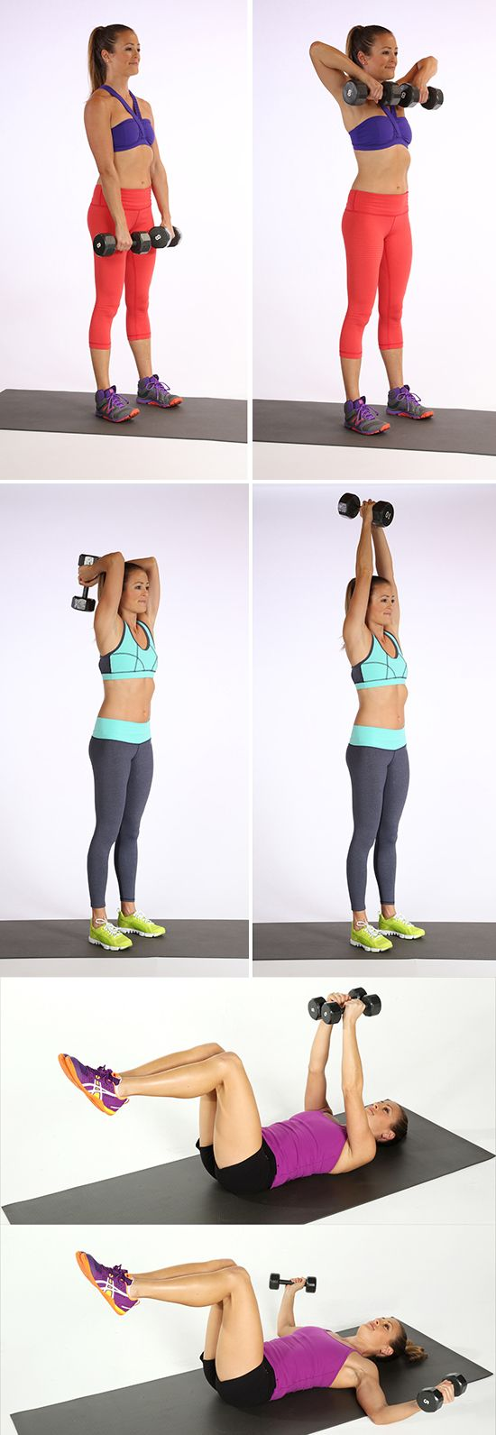 Arm exercises with weights for women pictures