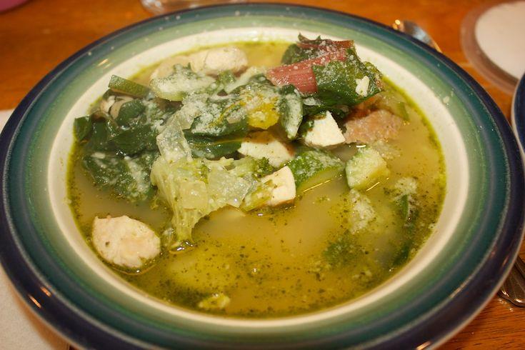Pesto, Chicken, And White Bean Soup Recipe — Dishmaps