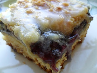 Easy Sour Cherry(uses canned cherries) Coffee Cake