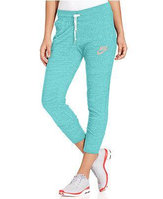 Creative Nike Gym Vintage Capri Pants In Gray Dark Grey  Lyst