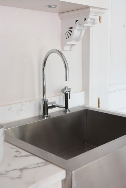 Apron Front Sink Stainless Steel : Stainless Steel Apron Front Sink Pretty Kitchens Pinterest