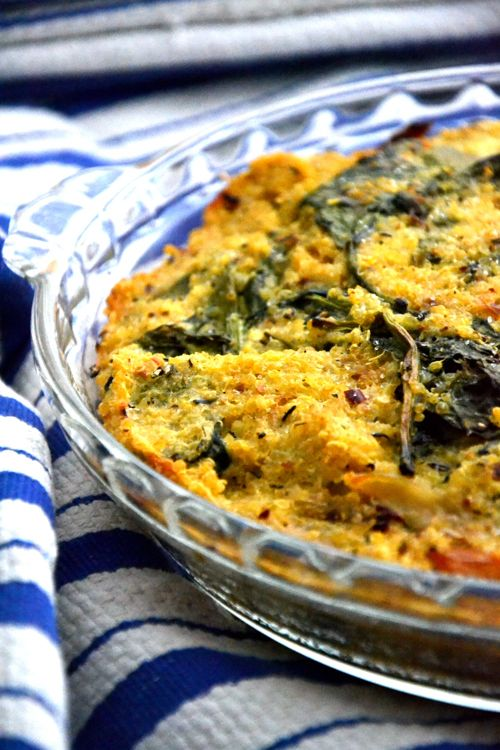 Quinoa-Spinach-Bake (so many possibilities - try with brown rice or ...
