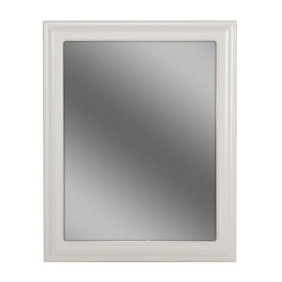 Bathroom white frame mirror bathrooms pinterest for Frames for bathroom wall mirrors