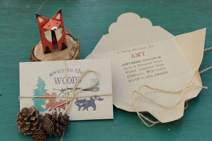 woodland invitations create invites with character by wrapping them