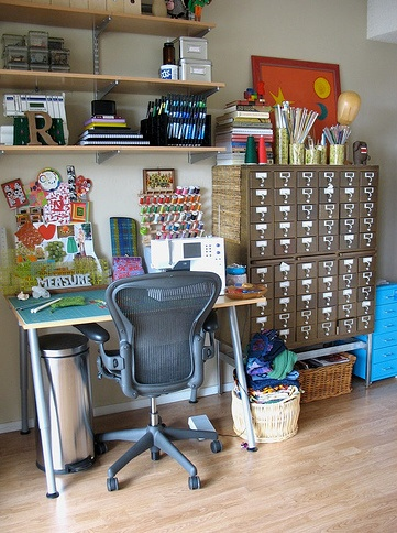 sewing studio storage