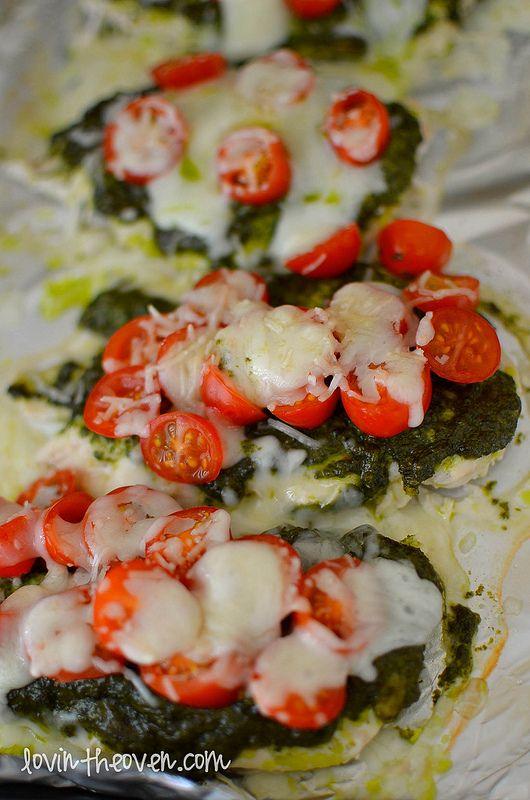 Skinny Chicken Pesto Bake | Recipe