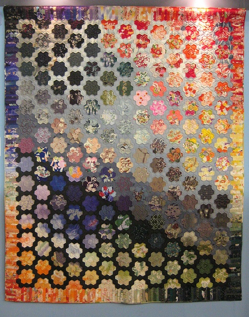 """Hexagons; """"Wa"""" Quilt Category ~ Third Place by Be*mused, via Flickr"""