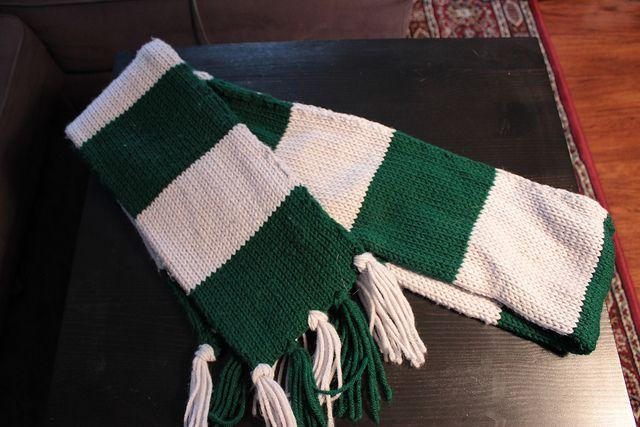 Slytherin Scarf Knitting Pattern : Slytherin scarf Knitting Pinterest
