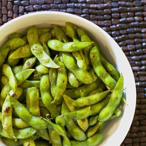 Garlic edamame side dish recipe -- it's amazing what that small addition does to these. So tasty!