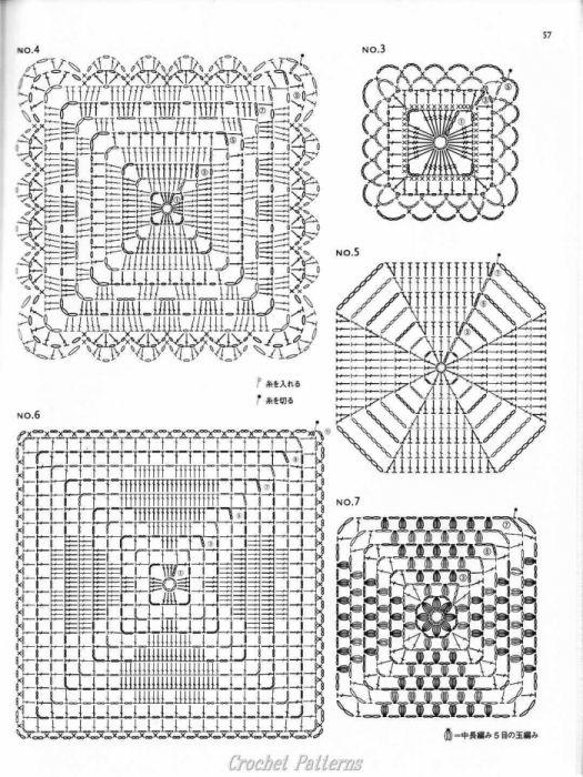 Crochet Patterns Diagrams : Jornal de tricO e aplicacao de diferentes elementos ...