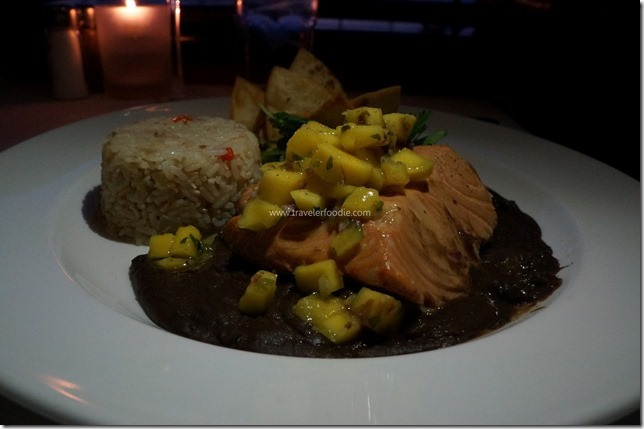 EmerilsOrlando #Florida Poached Salmon, Mango Salsa, Smashed Avocado ...