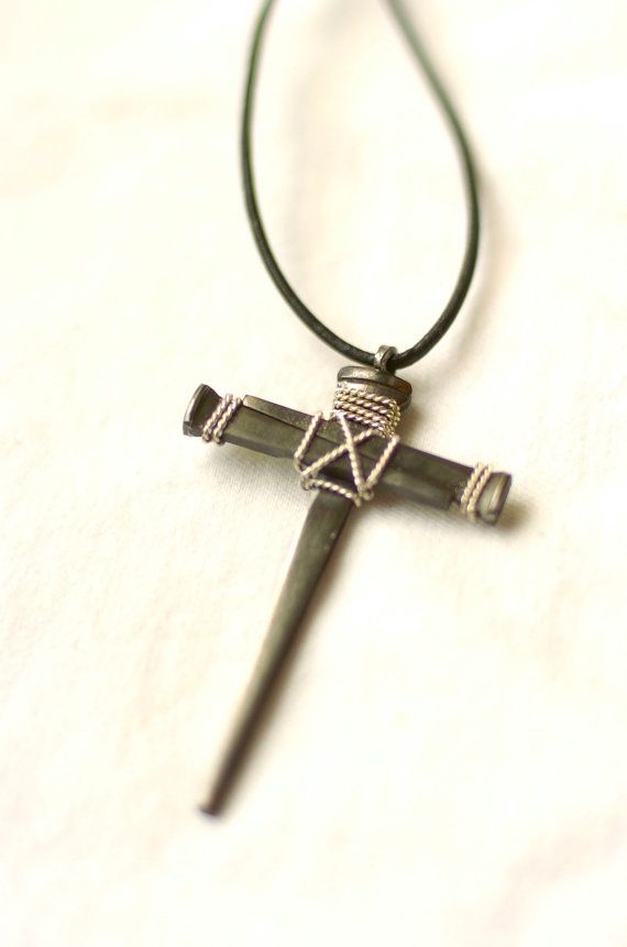 Crosses for Kids 3 nail cross necklace by MemesEtc on Etsy, $20.00