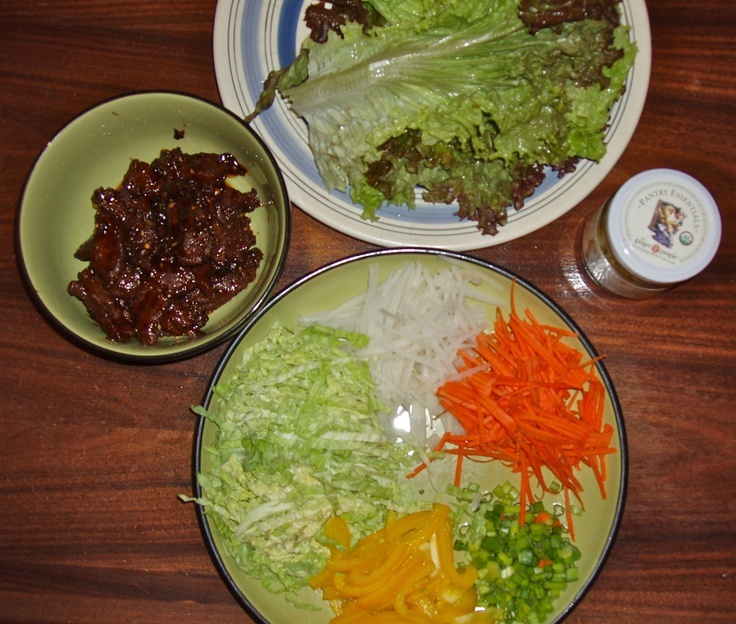 spicy Mongolian beef lettuce wraps | paleo to try | Pinterest