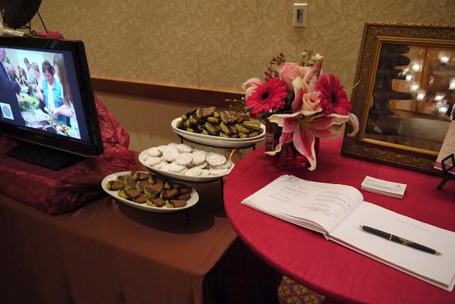 Pistachio cookies, cookies, lemon drops, gerbera daises, pink flowers ...