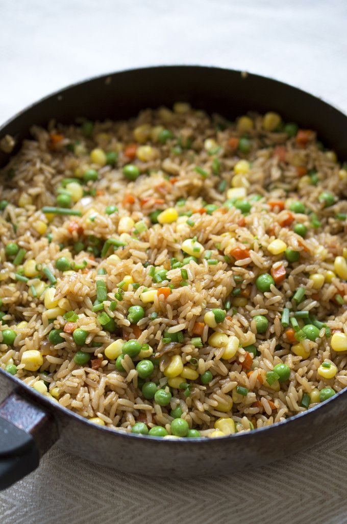 ... and easy vegetable fried rice by chefsavvy.com #recipe #rice #dinner