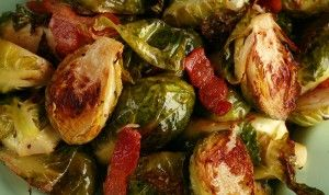 Bacon-Roasted Brussels Sprouts with Dijon Vinaigrette