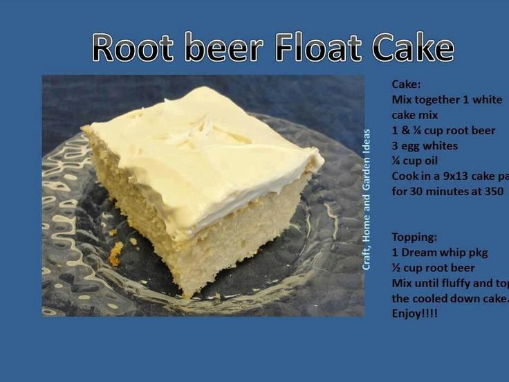 Root beer flat cake | Cake Ideas | Pinterest