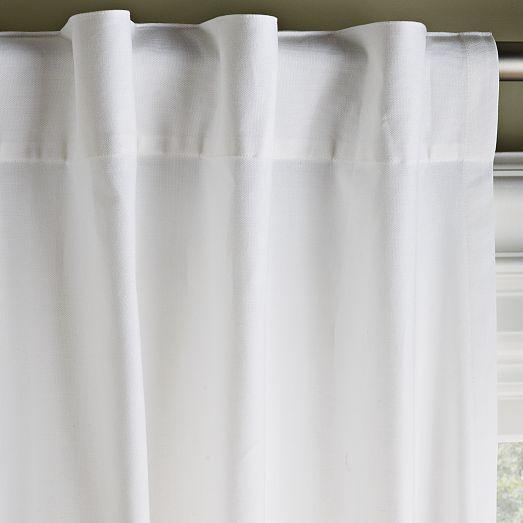 cotton canvas curtain white west elm