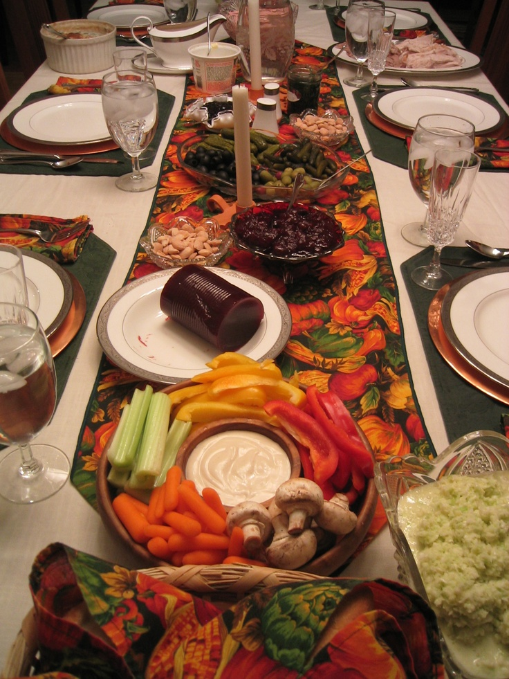 Table Setting Thanksgiving Dinner Pinterest