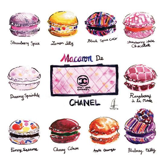Fashion Macaron Art Chanel 2014 Fall Winter by PinkSienna on Etsy, $12 ...