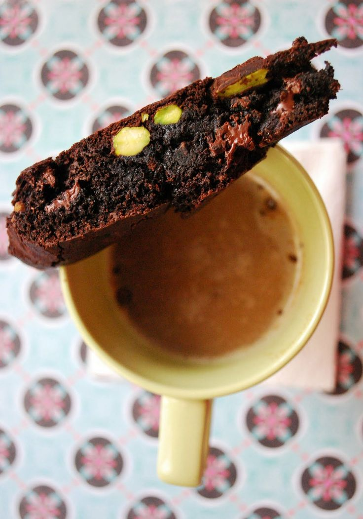 Double Chocolate Pistachio Biscotti | Eat, Bake & Love | Pinterest