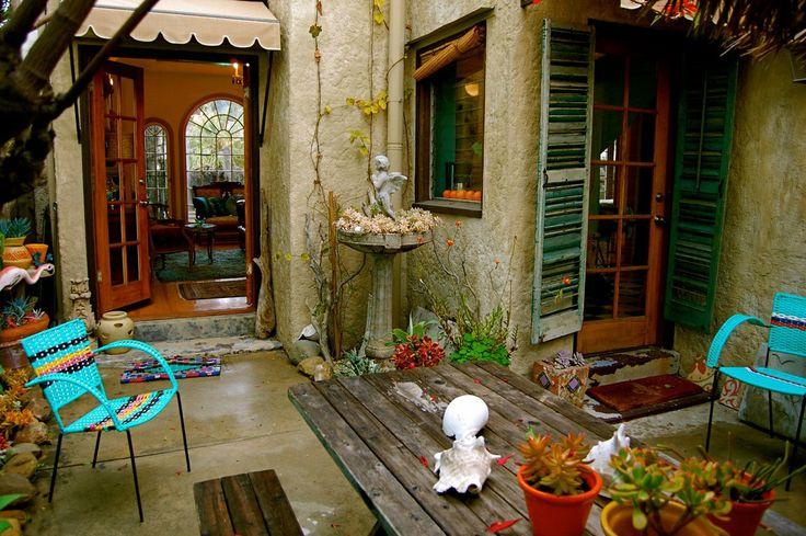 Bohemian Style Backyards : 10 JustaBit Bohemian Outdoor Spaces House Tour Roundup  i