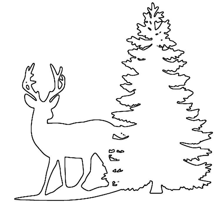 Free deer print woodburning patterns