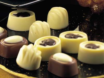 Bombones de chocolate blanco