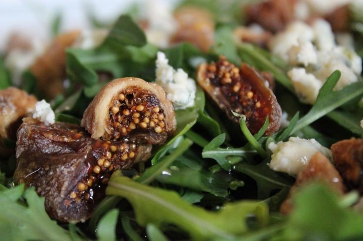 Fig & Blue Cheese Arugula Salad | Salads | Pinterest