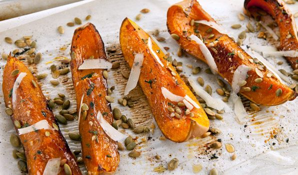 Roasted Butternut Squash with Pecorino and Pumpkin Seeds - In the ...